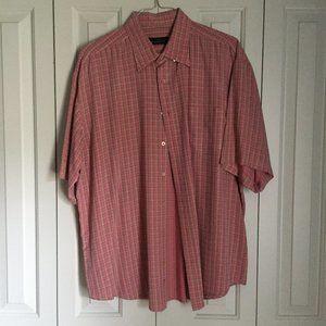 Red Bugatchi Shirt | Size XXL